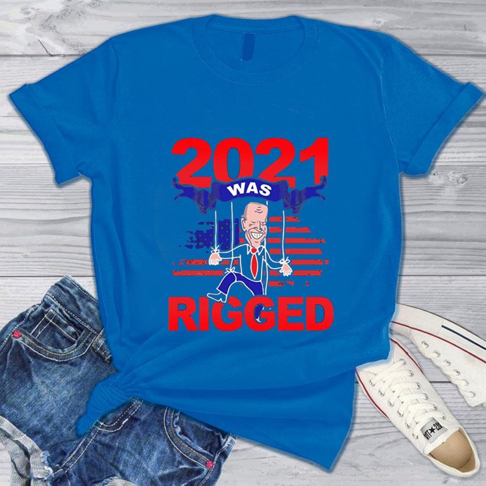 2021 was rigged voter suppression Biden t-s blue