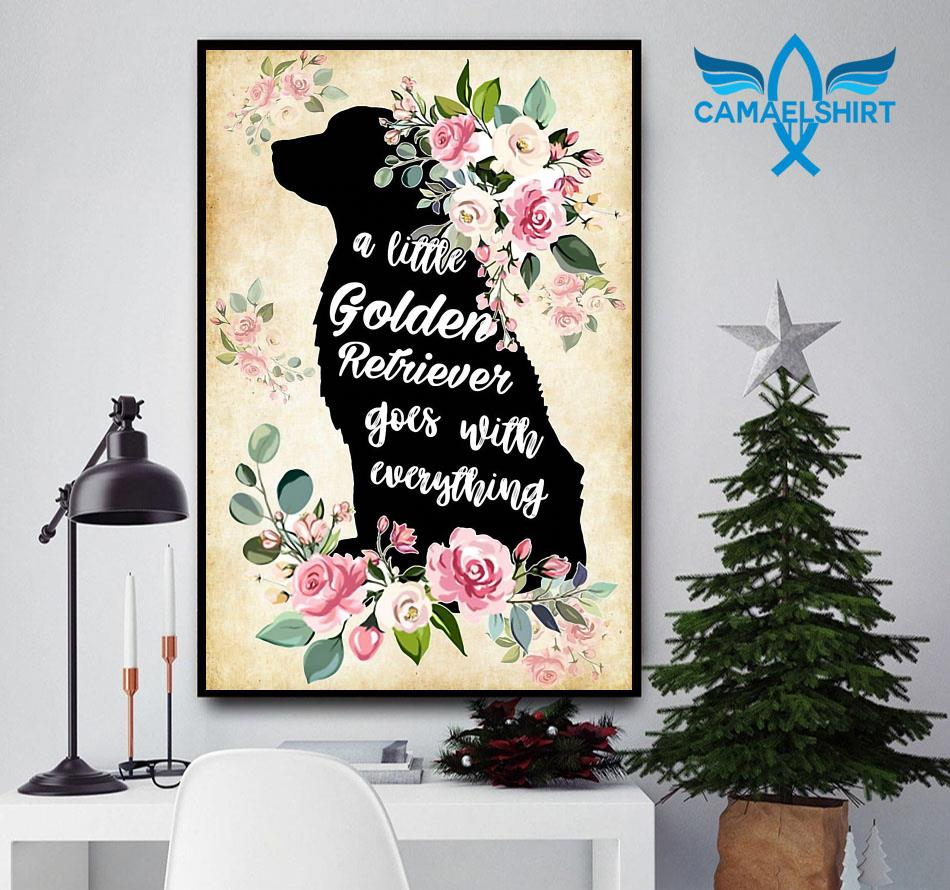 A little golden retriever go with everything poster