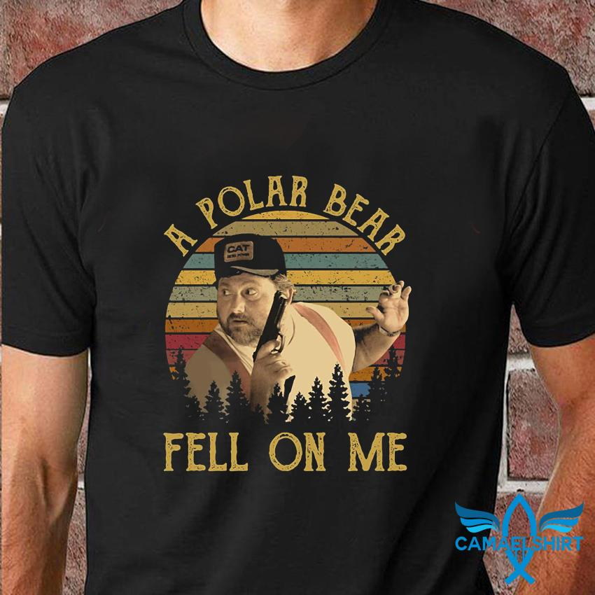 A polar bear fell on me vintage t-shirt
