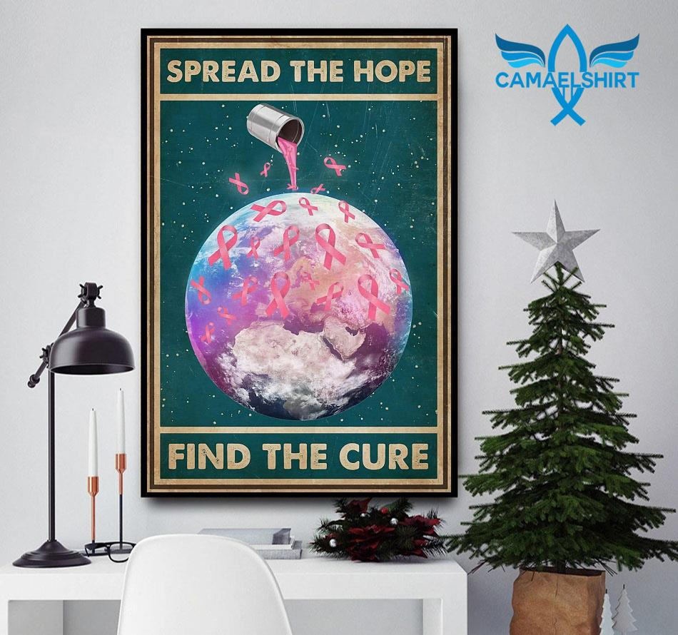 Breast Cancer spread the hope find the cure poster