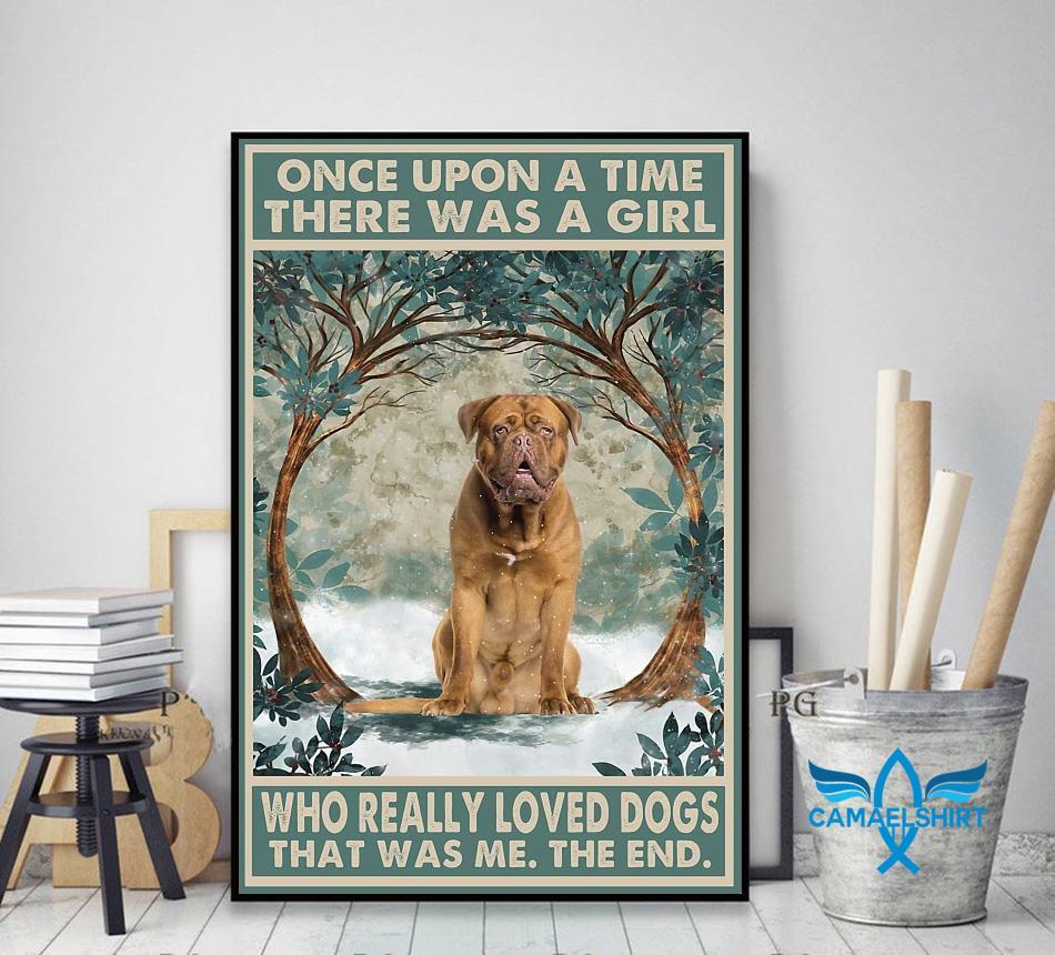 Dogue de Bordeaux once upon a time poster decor art