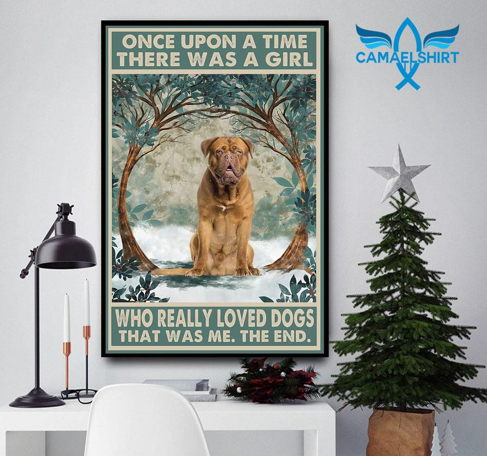 Dogue de Bordeaux once upon a time poster