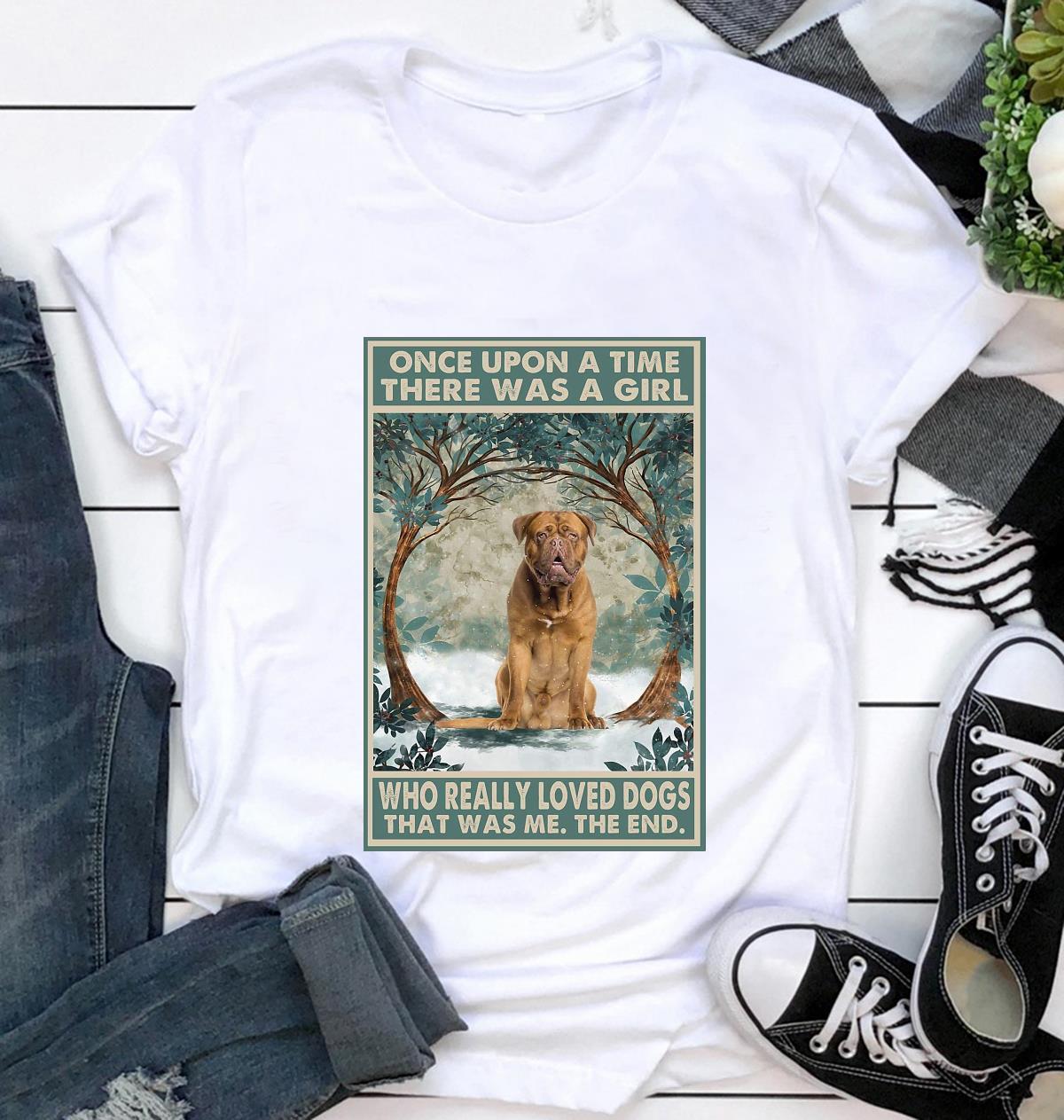 Dogue de Bordeaux once upon a time poster t-shirt