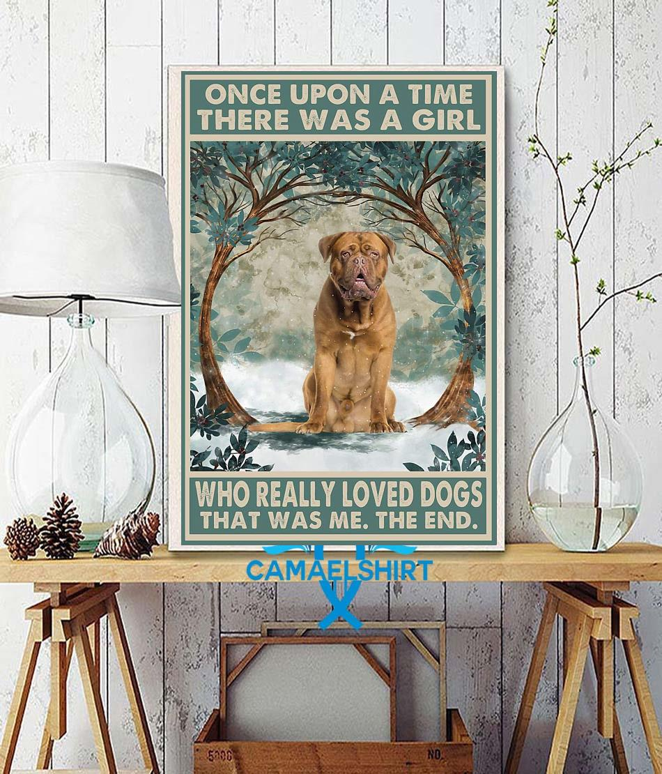 Dogue de Bordeaux once upon a time poster wall decor