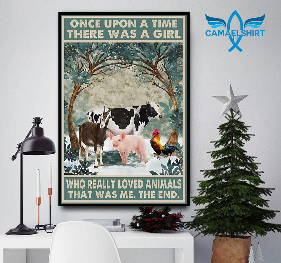 Farm lovers once upon a time a girl who really loved Animals poster