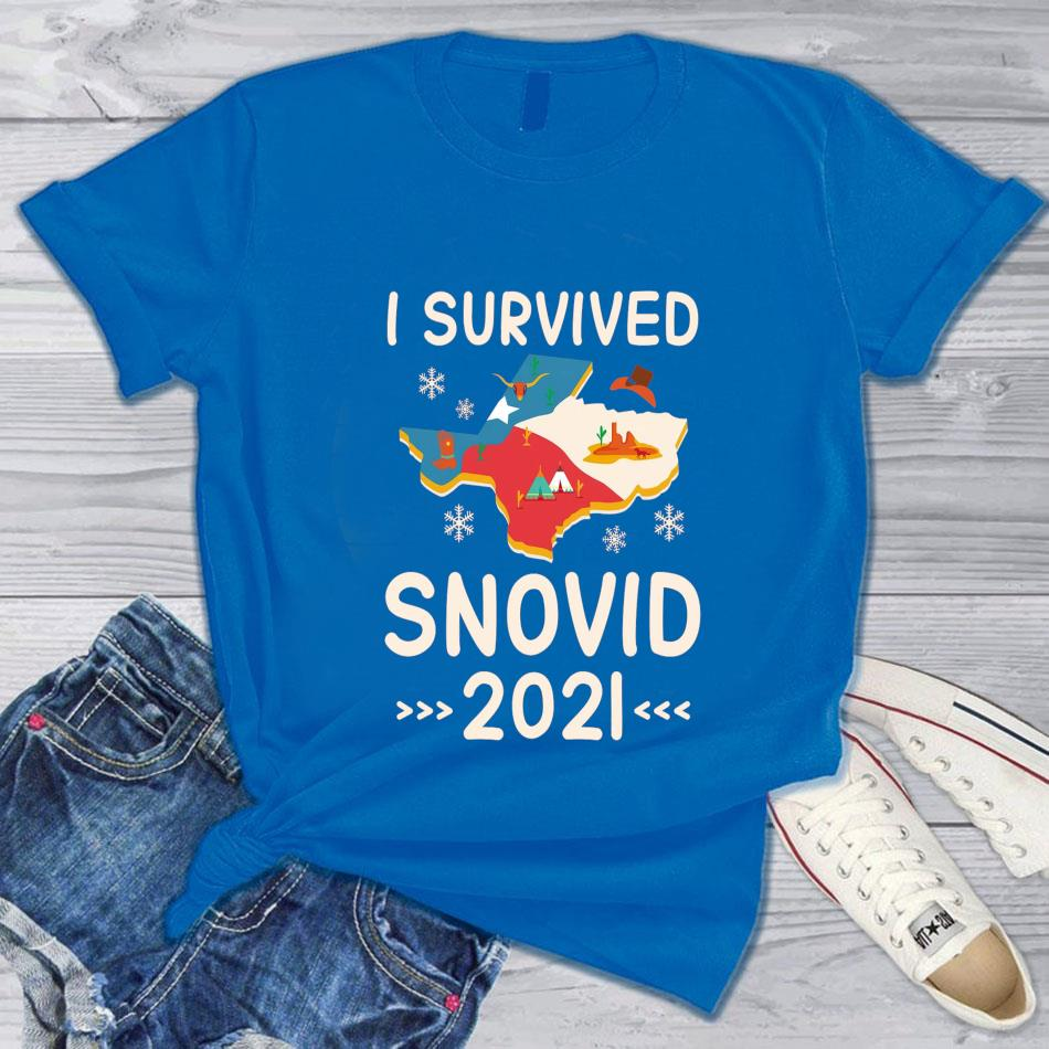 I survived Snovid 20121 Texas Snow Storm s blue