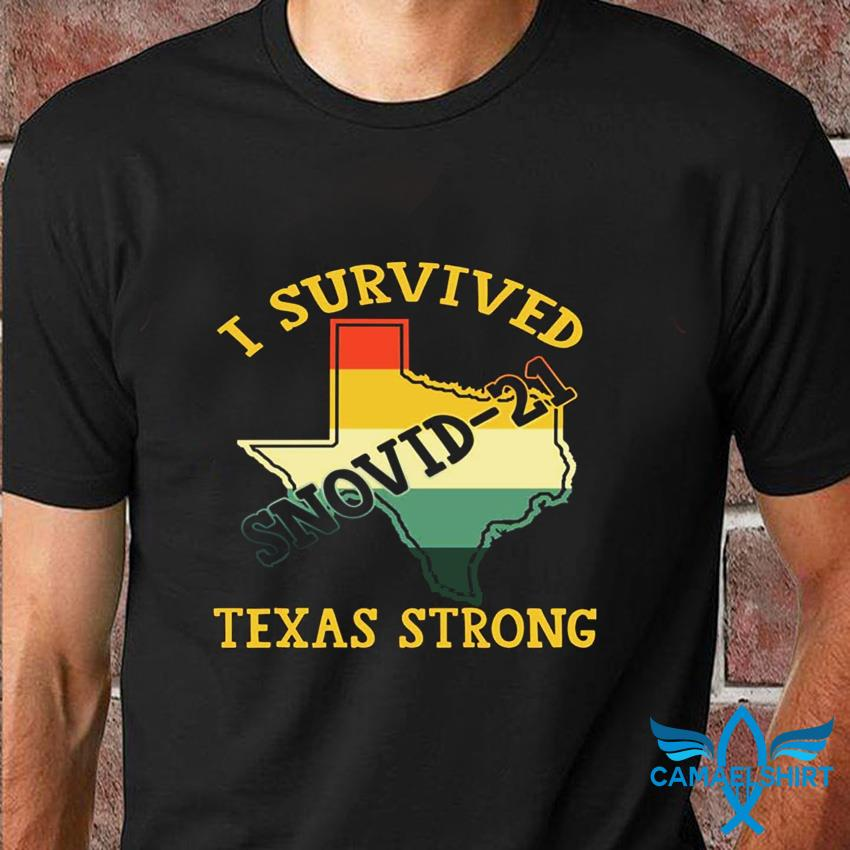 I survived snovid-2021 pray for Texas vintage t-shirt