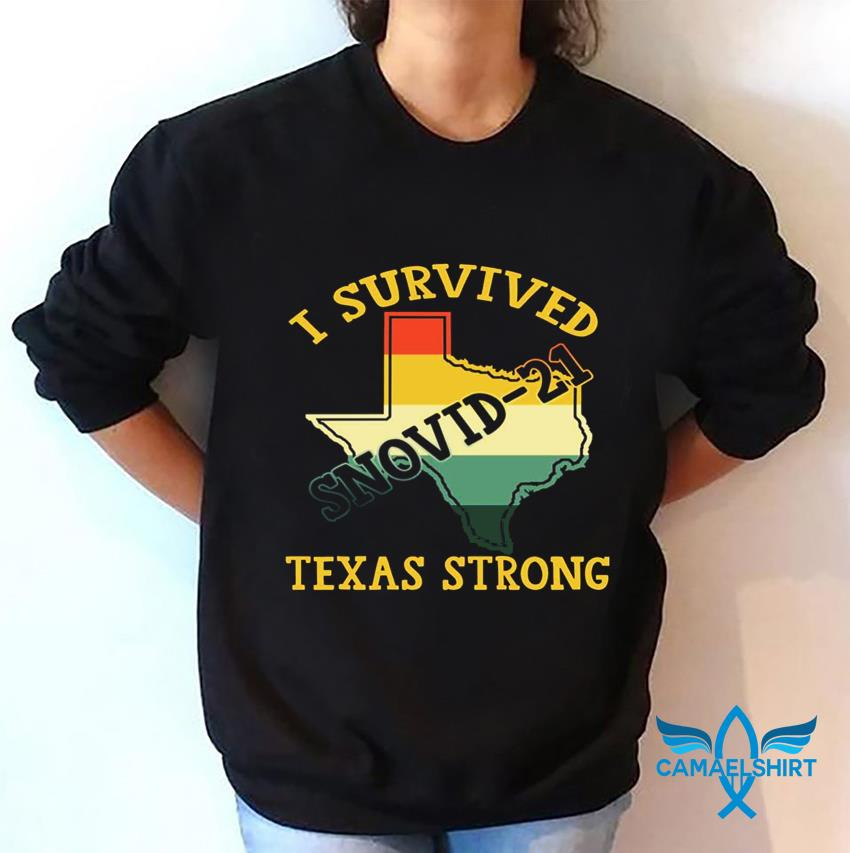 I survived snovid-2021 pray for Texas vintage t-s sweatshirt