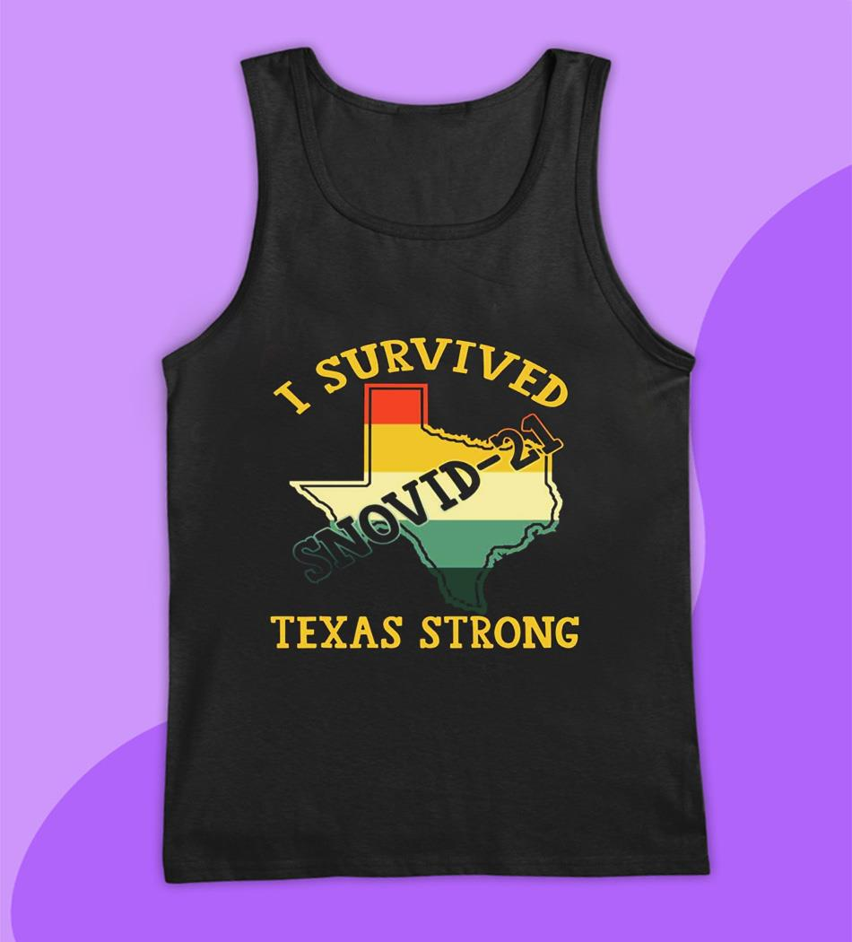 I survived snovid-2021 pray for Texas vintage t-s tank top