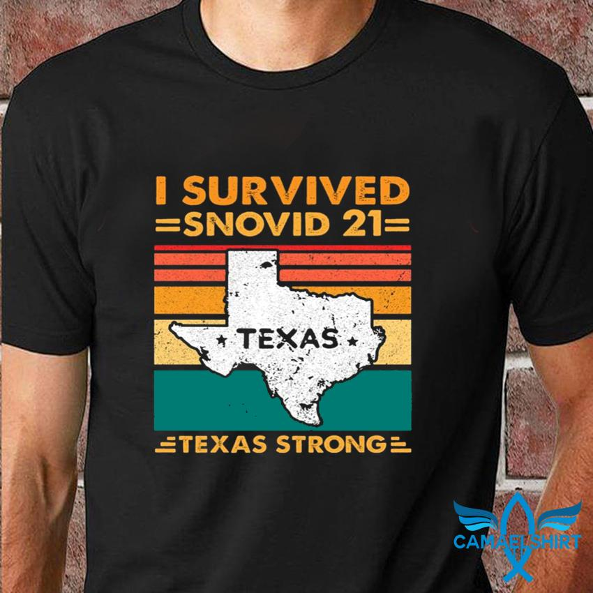 I survived Snovid 21 Texas vintage retro t-shirt