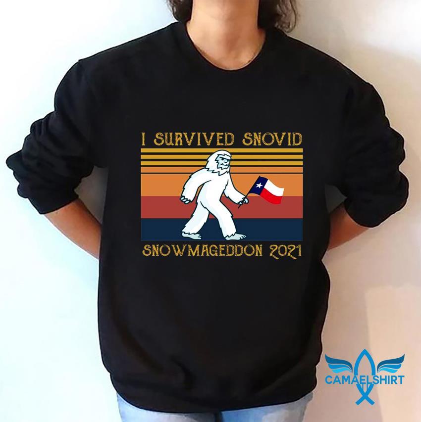 I survived snovid snowmageddon 2021 vintage t-s sweatshirt