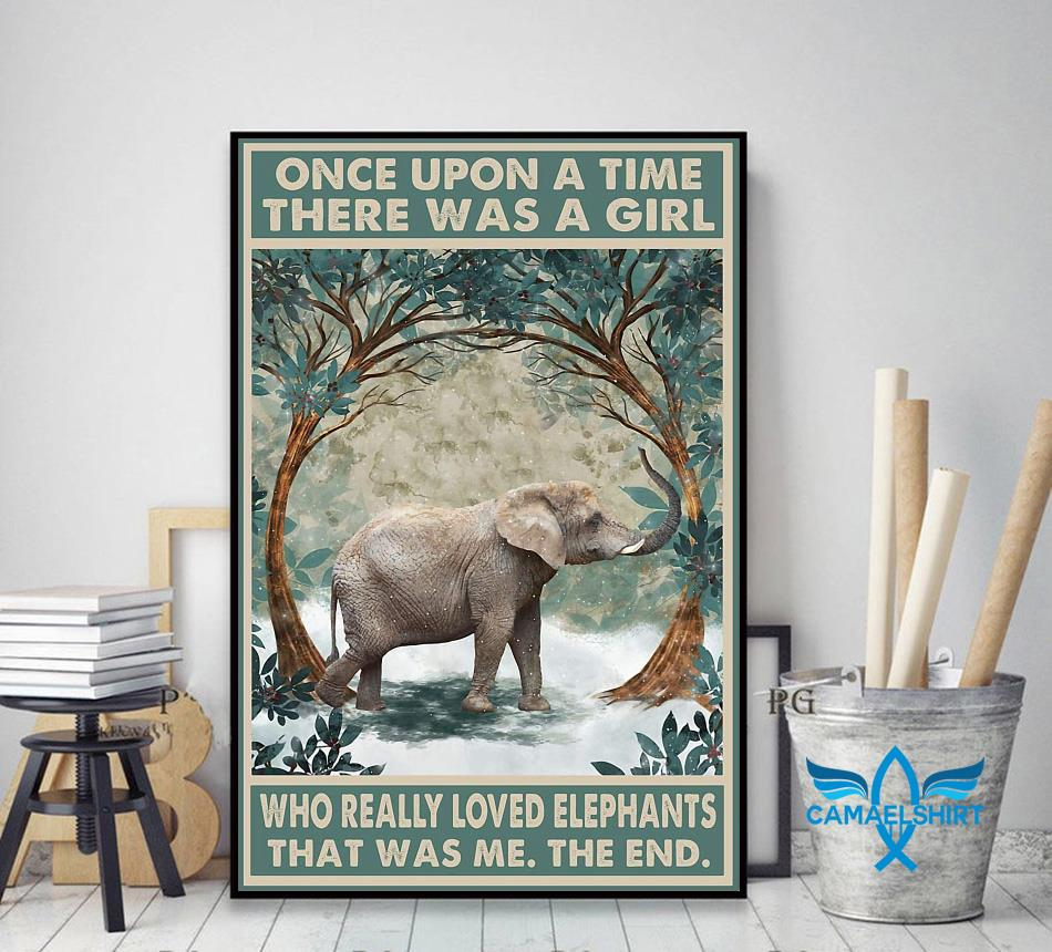 Once upon a time a girl who really loved Elephant forest poster decor art