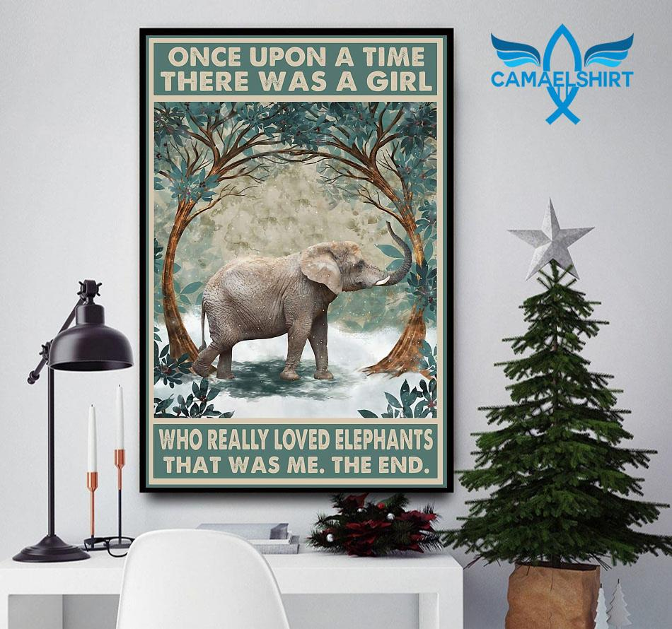 Once upon a time a girl who really loved Elephant forest poster