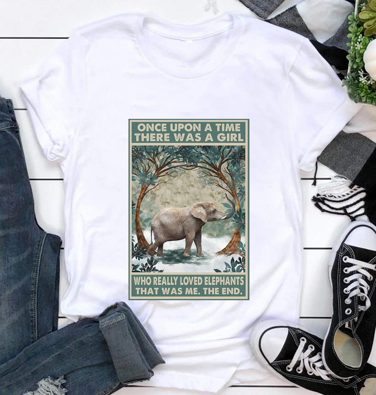 Once upon a time a girl who really loved Elephant forest poster t-shirt