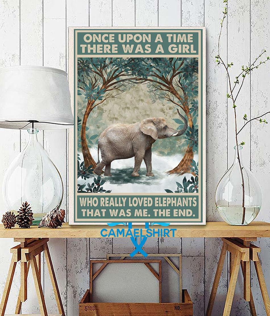 Once upon a time a girl who really loved Elephant forest poster wall decor