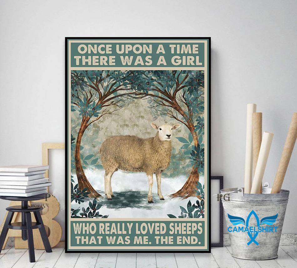 Once upon a time a girl who really loved Sheeps vintage poster decor art
