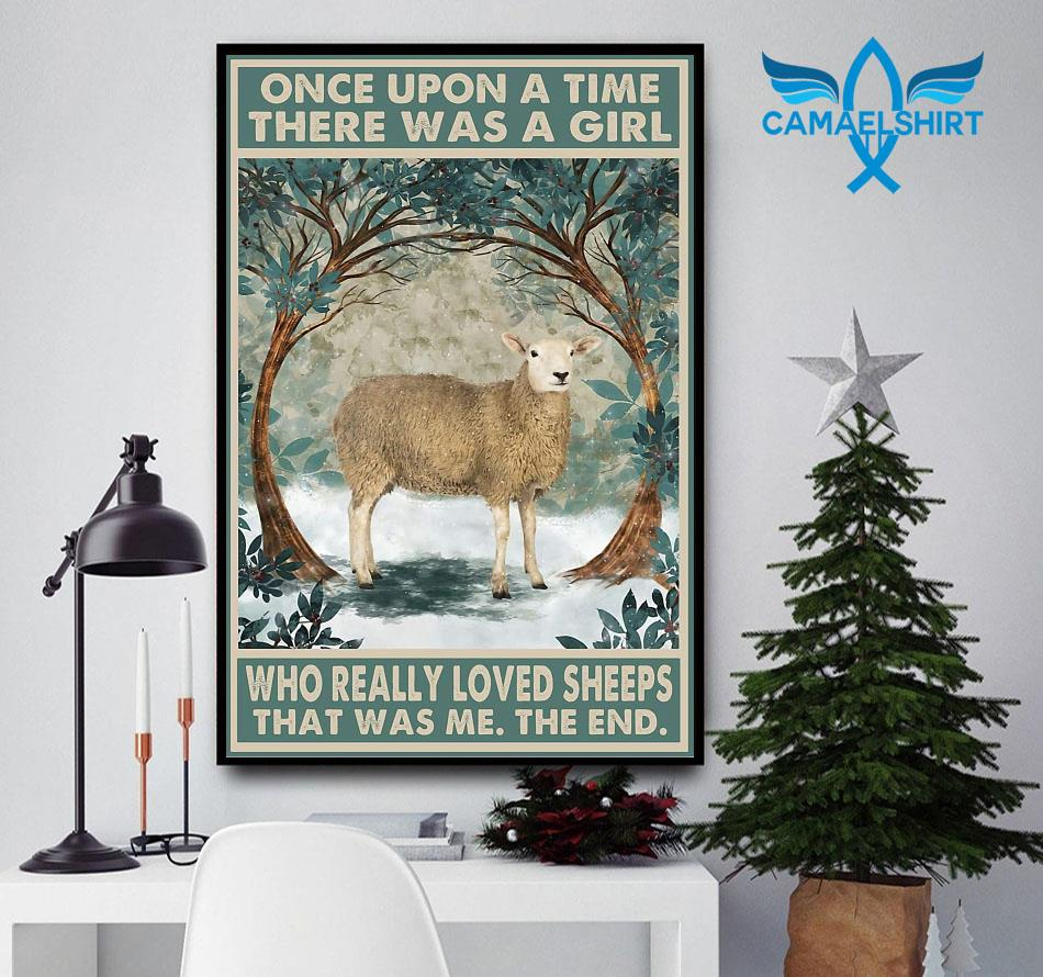 Once upon a time a girl who really loved Sheeps vintage poster