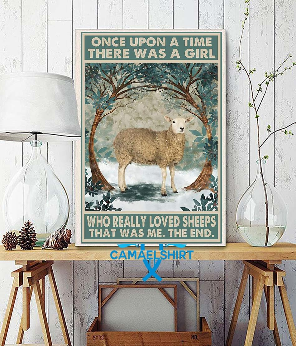 Once upon a time a girl who really loved Sheeps vintage poster wall decor