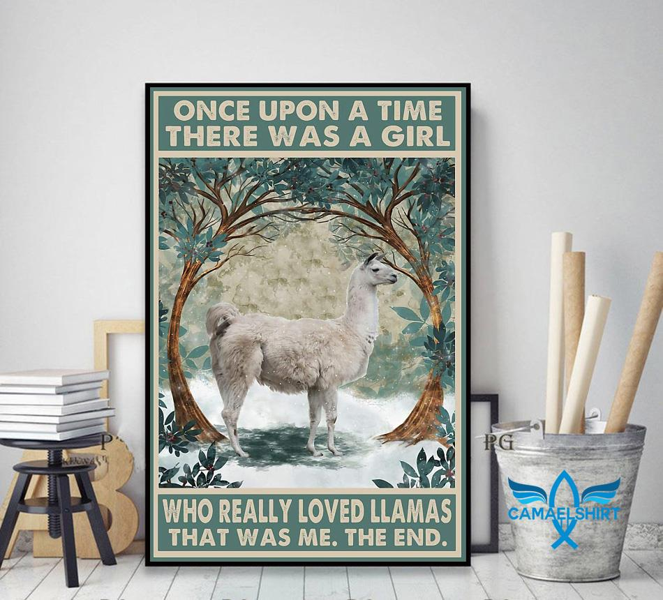 Once upon a time girl really loved Llamas poster decor art