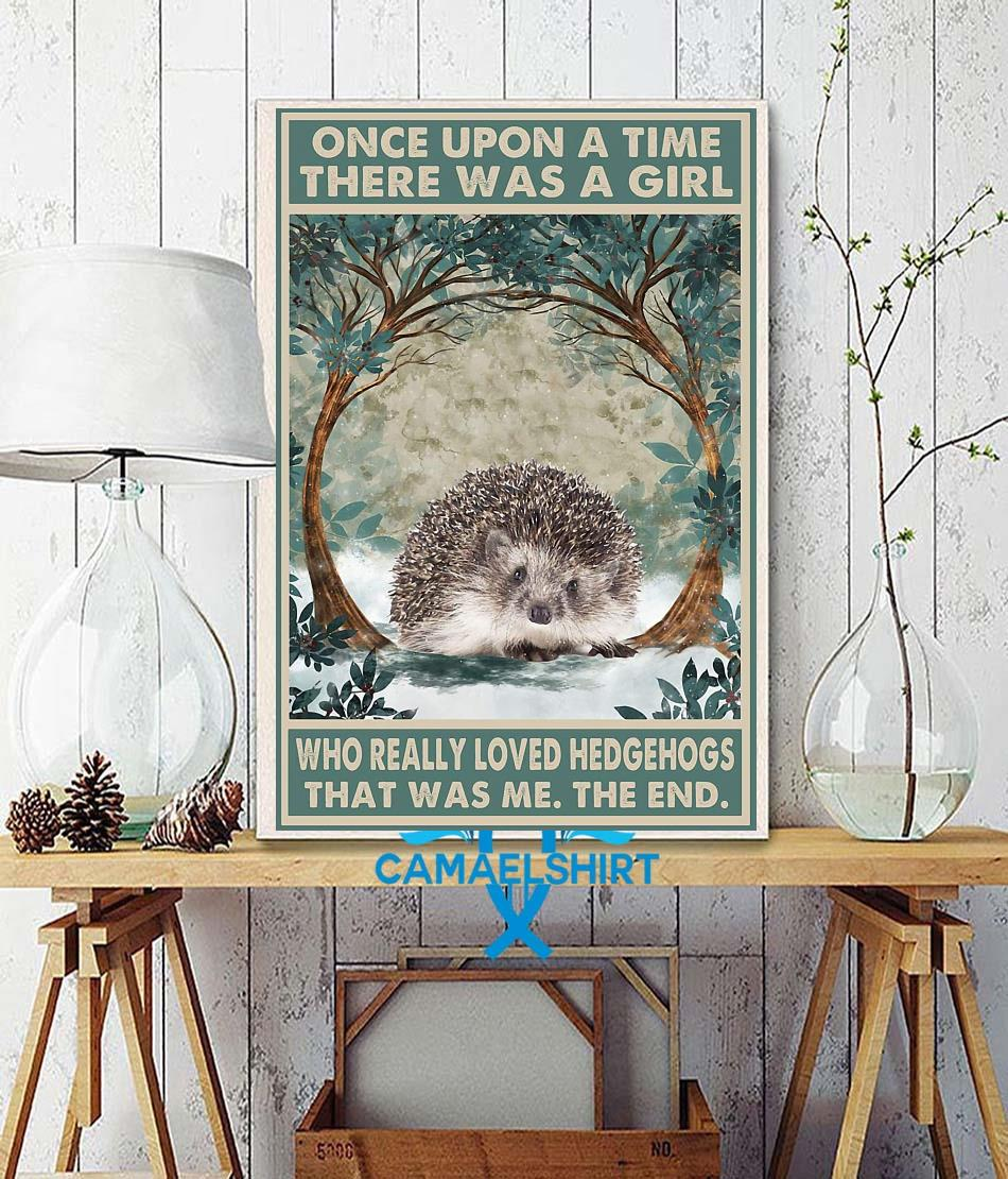 Once upon a time girl who really loved hedgehog poster canvas wall decor