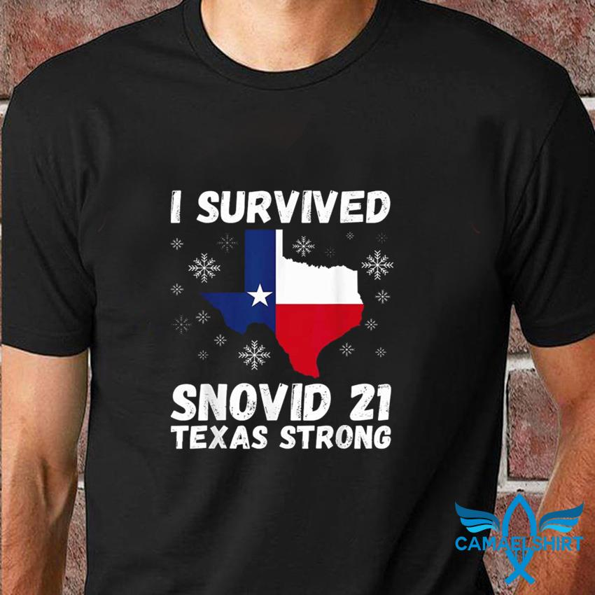 Texas map I survived Snovid 21 t-shirt