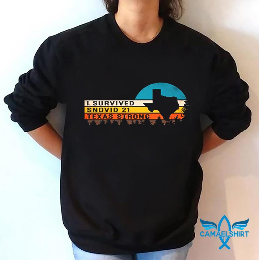 Vintage I survived snovid-21 Texas Strong s sweatshirt