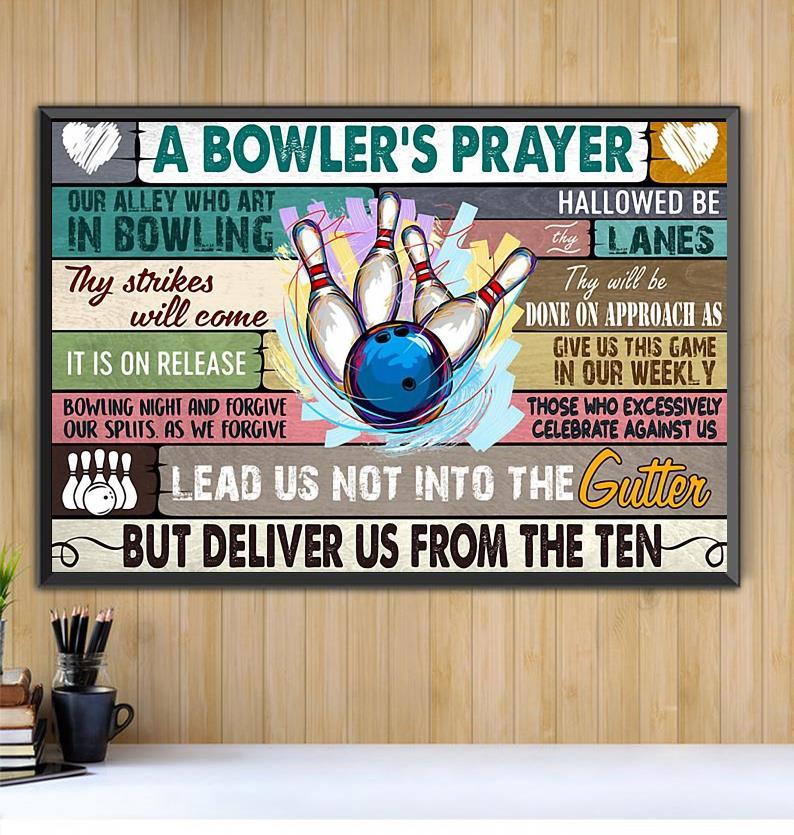 A Bowler's Prayer print canvas Black canvas