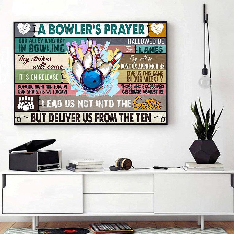 A Bowler's Prayer print canvas