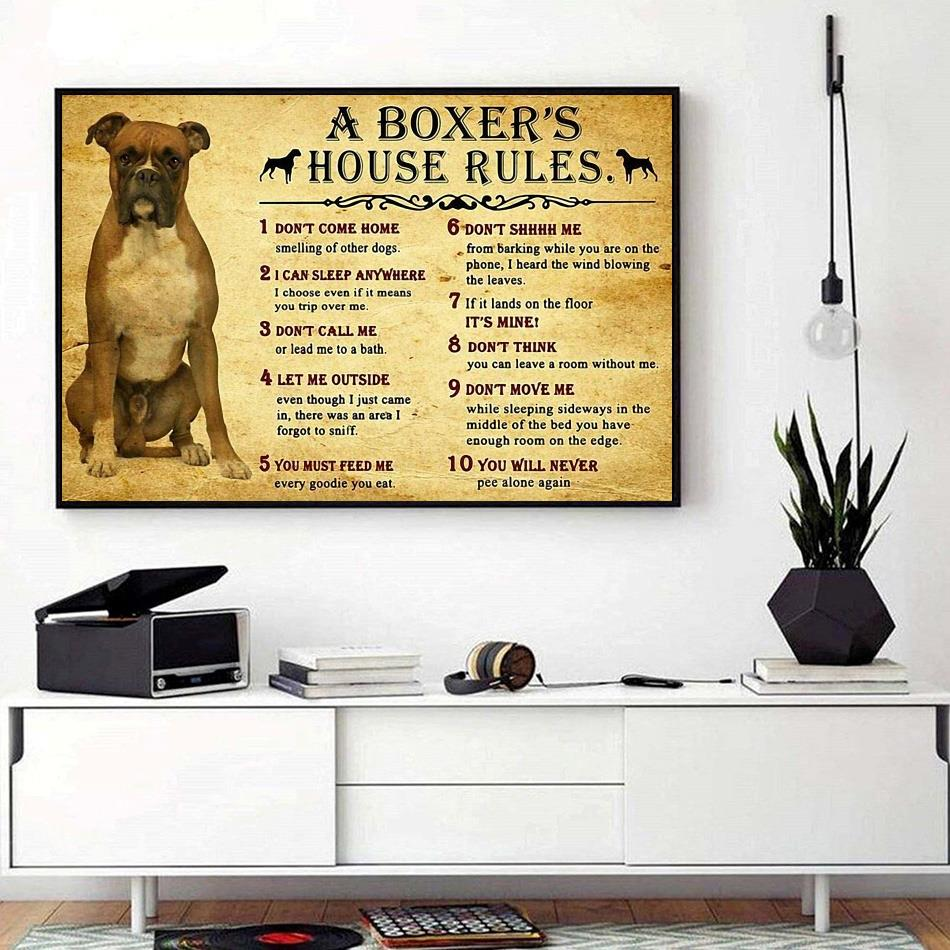 A boxer's house rules horizontal canvas
