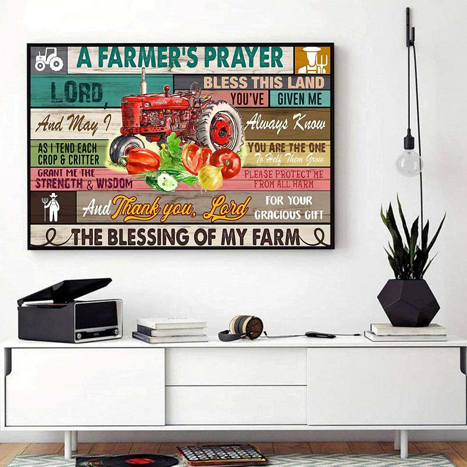 A Farmer's Prayer print canvas