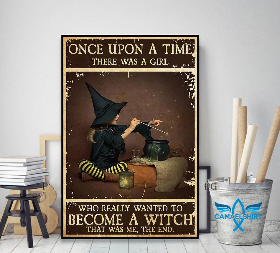 A baby girl wanted to become a witch poster canvas decor art