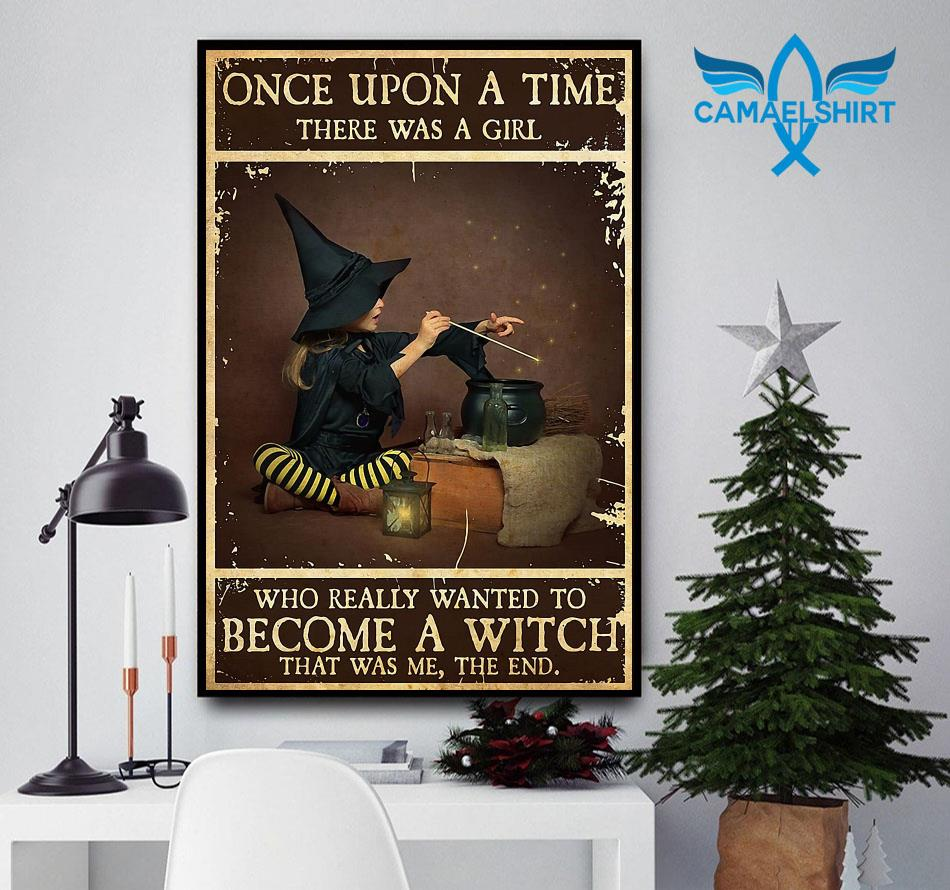 A baby girl wanted to become a witch poster canvas