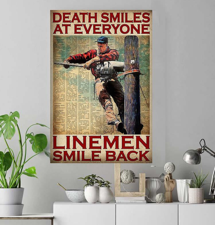 Death smiles at everyone linemen smile back poster