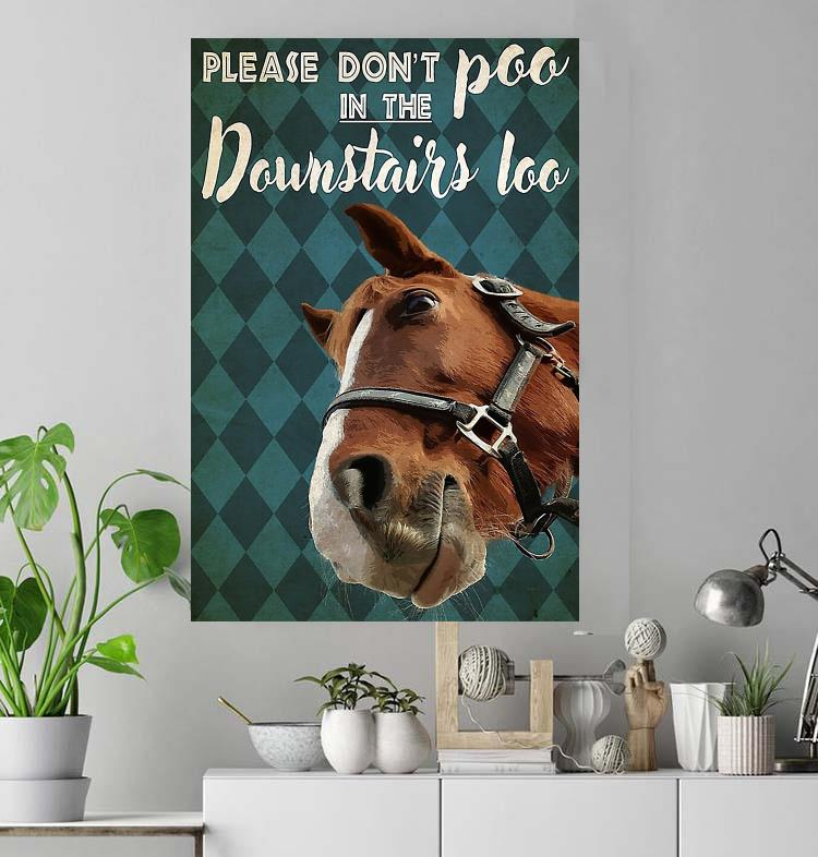 Horse please don't poo in downstairs loo poster