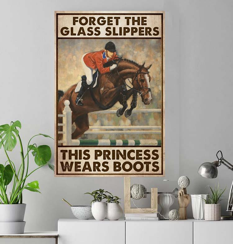 Horse racing forget glass slippers this princess wears boots poster