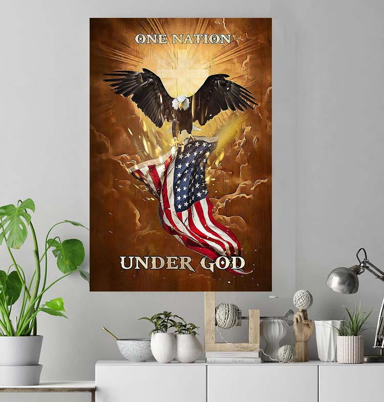 US One Nation under God poster canvas