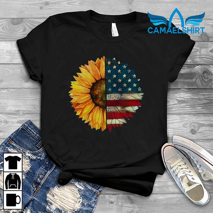 American flag sunflower t-shirt
