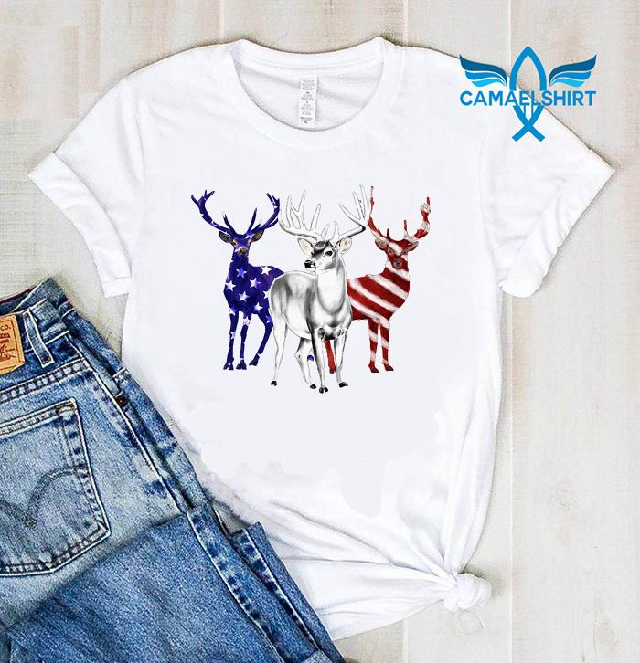 Deer American flag Independence day shirt