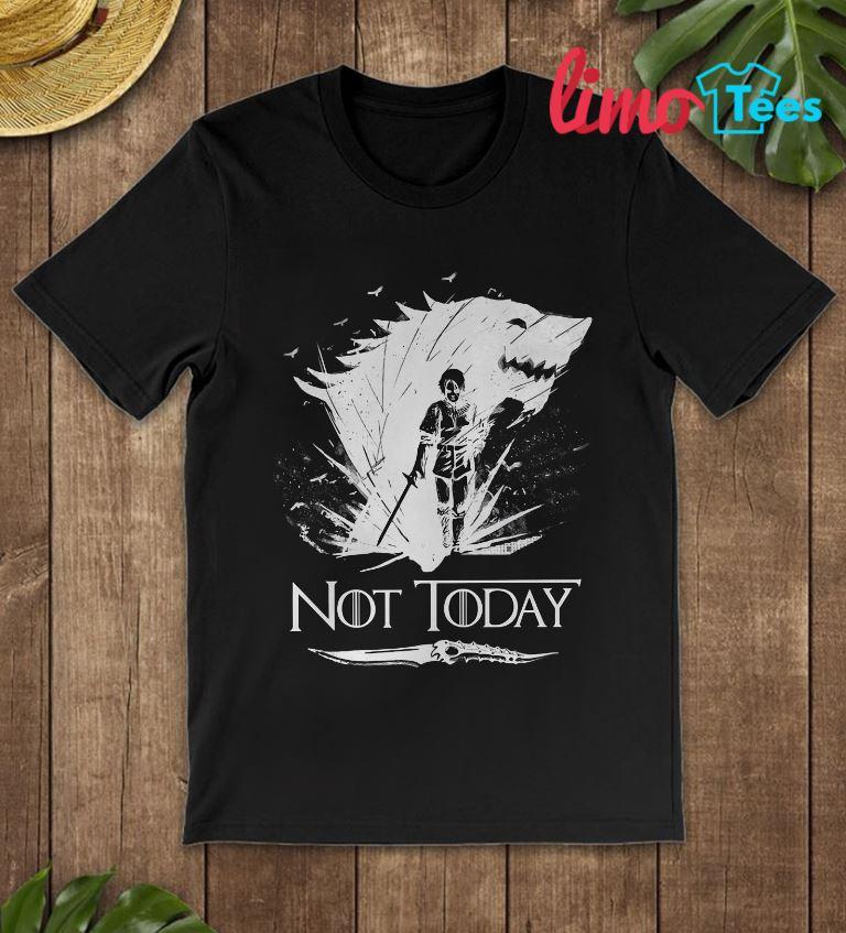 Game Of Thrones Arya Stark Air not today t-shirt