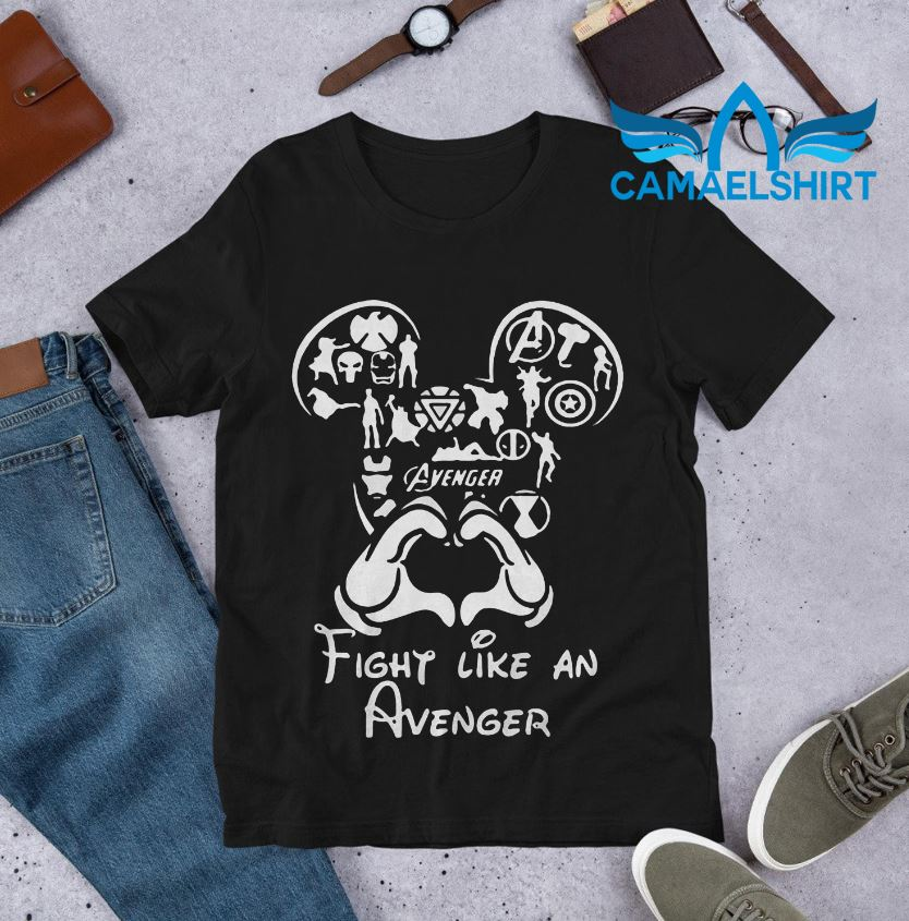 Mickey Disney fight like an Avenger shirt