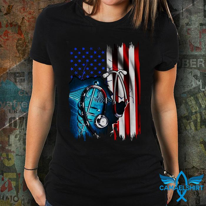 Nurse American flag 4th of July shirt