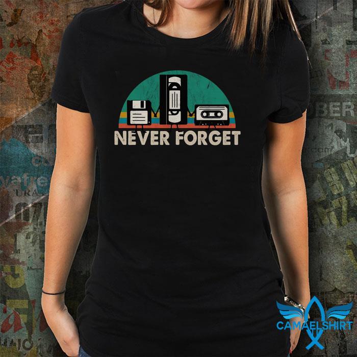 Vintage VHS tape never forget shirt