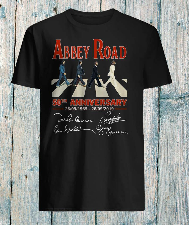 Abbey Road the last album The Beatles recorded shirt