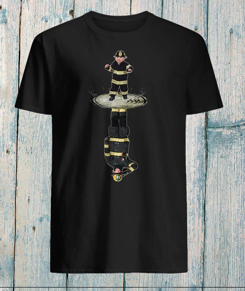 Baby Fireman water reflection shirt