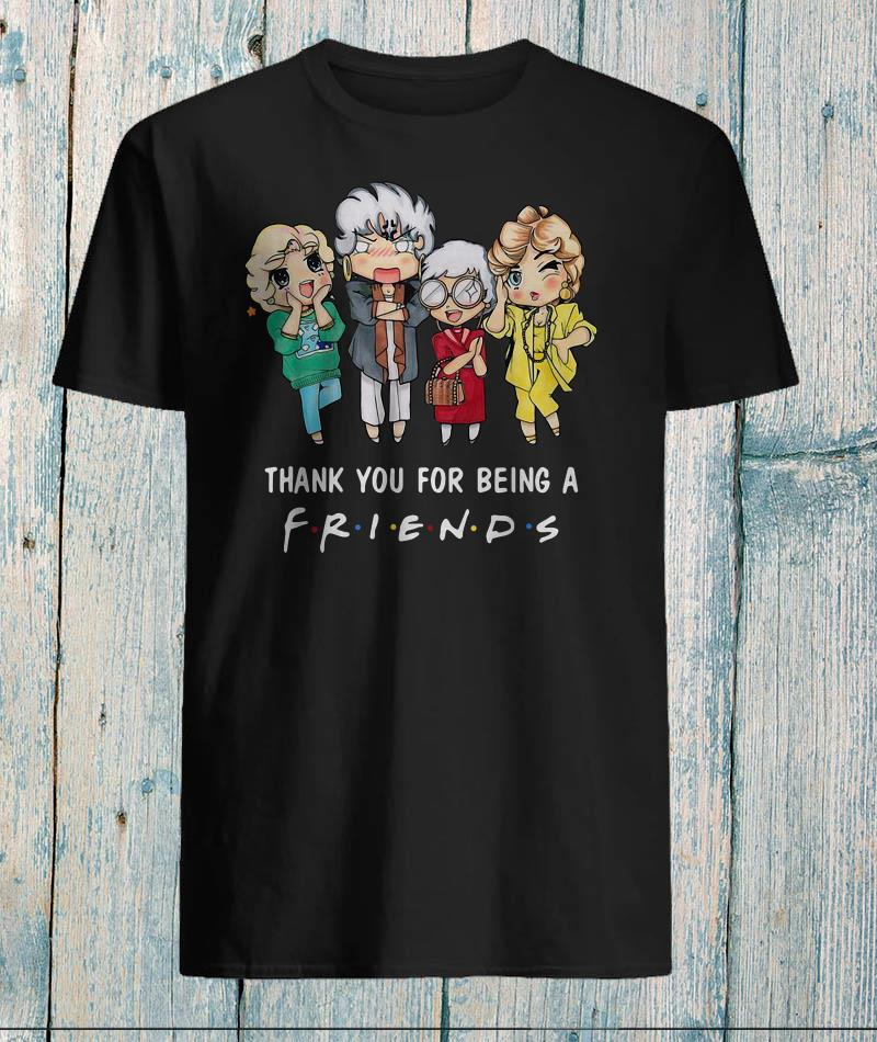 The Golden Girls chibi thank you for being a friends shirt