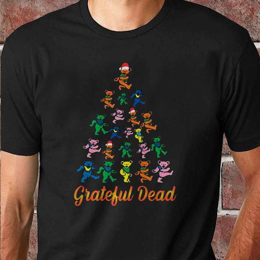 Grateful dead dancing bears Christmas tree shirt