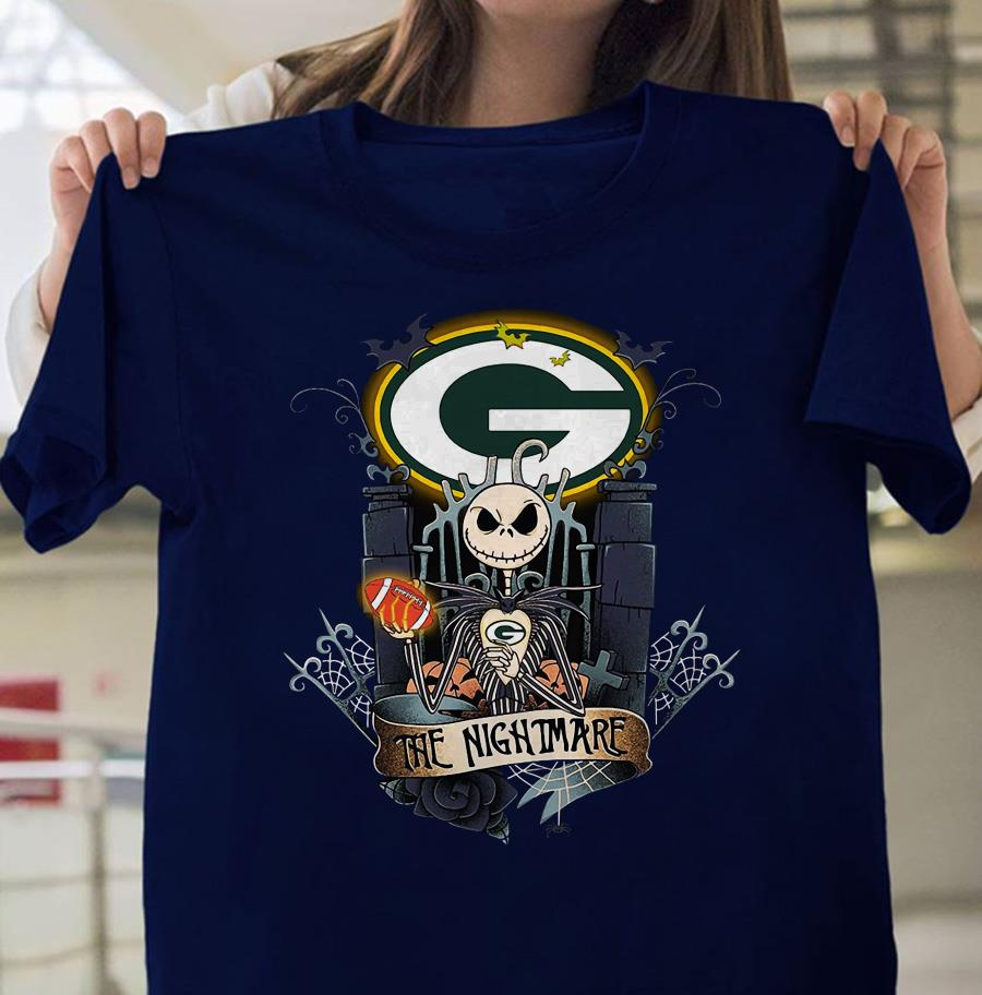 Green Bay Packers Jack Skellington shirt