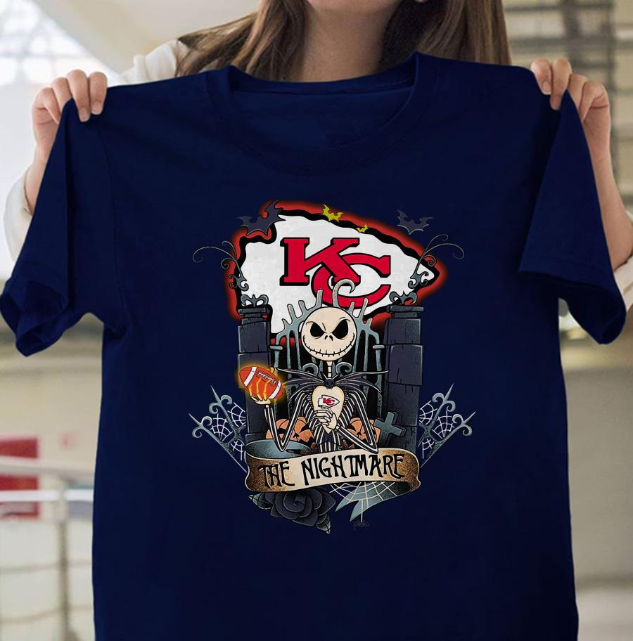 Kansas City Chiefs Jack Skellington shirt
