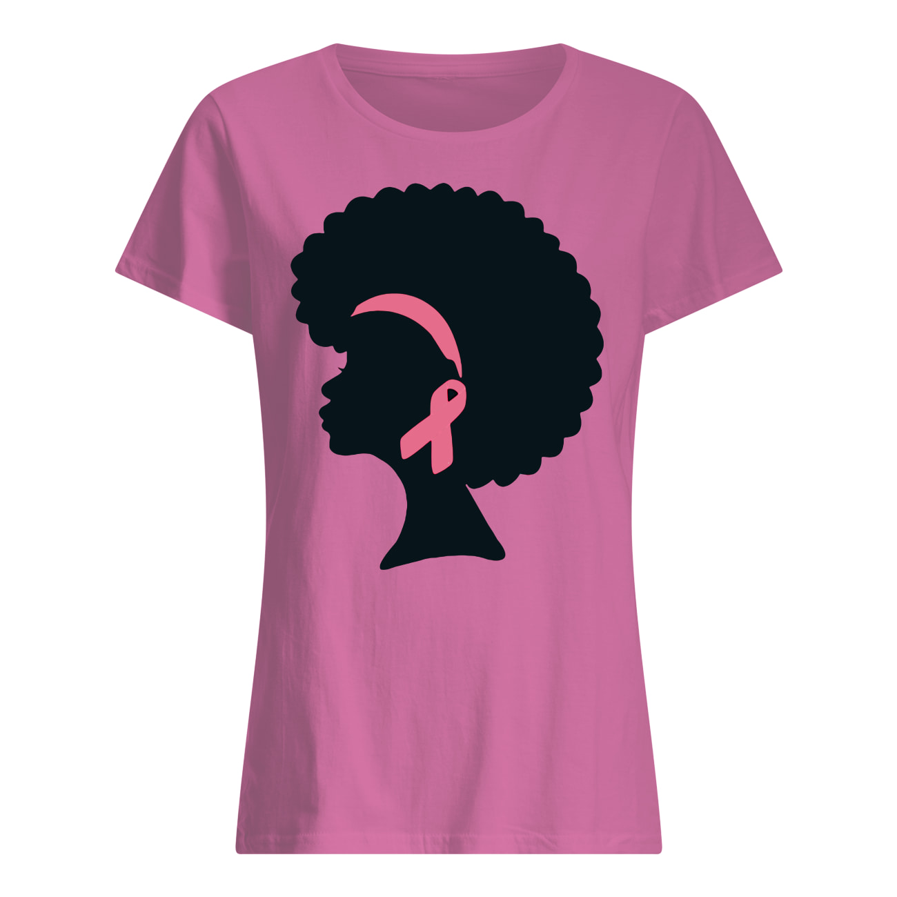 Oprah Winfrey wear pink breast cancer shirt