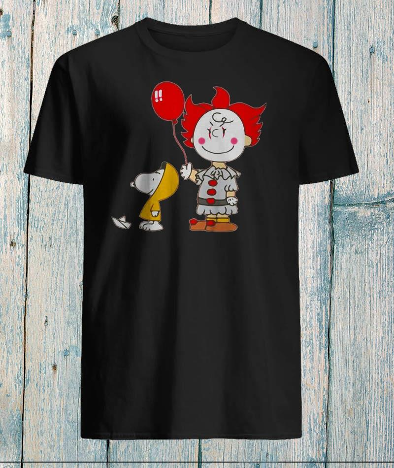 Snoopy and Charlie Brown Pennywise costume shirt